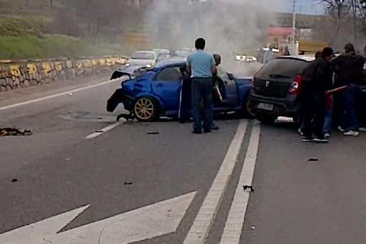 Soferul care a provocat accidentul pe Feleac a murit! Circula cu 200 de km/h