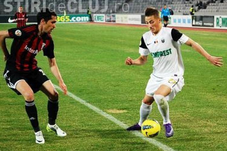 """""""U"""" Cluj - Pandurii Targu Jiu 0-1 VIDEO - gol Voiculet"""