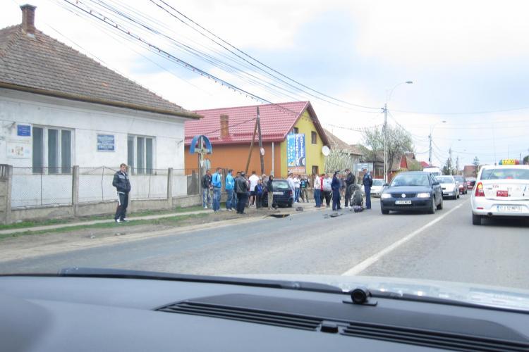 Accident in Floresti! Un motociclist a fost spulberat de soferul unui Ford FOTO