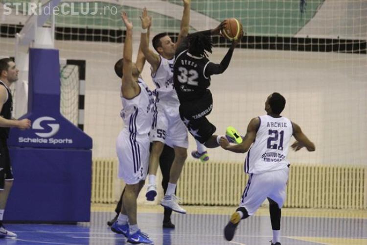 U Mobitelco, invinsa in prima partida a semifinalei cu BC Timisoara
