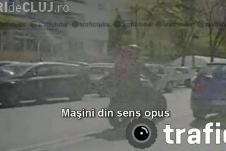 Motociclistul lovit in Floresti, rula nebuneste inainte de accident pe Calea Floresti VIDEO filmat in TRAFIC