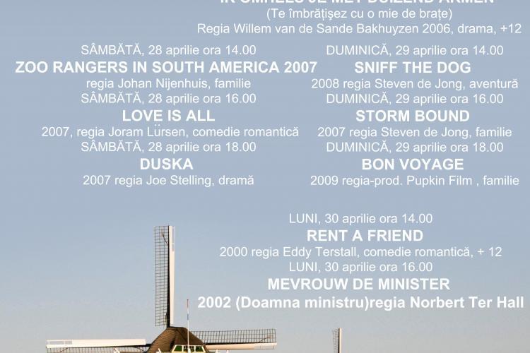 Intre 26-30 aprilie, clujenii pot viziona filme olandeze la Cinema Marasti, in mod gratuit!