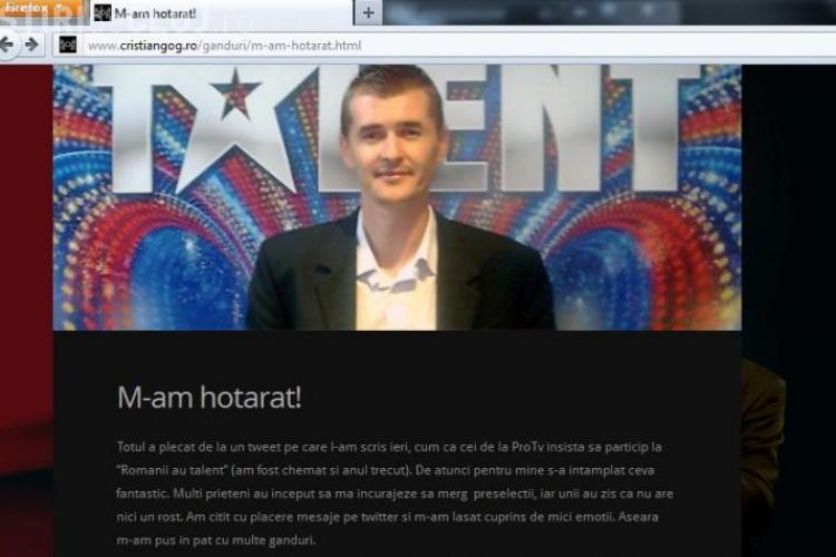 Cristian Gog: Pro TV a insistat din 2010 sa particip la Romanii au talent