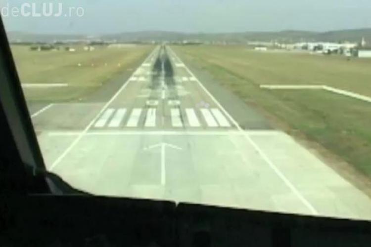 Aeroportul International Cluj se inchide pentru reparatii! PISTA este PRAF - VEZI un video edificator