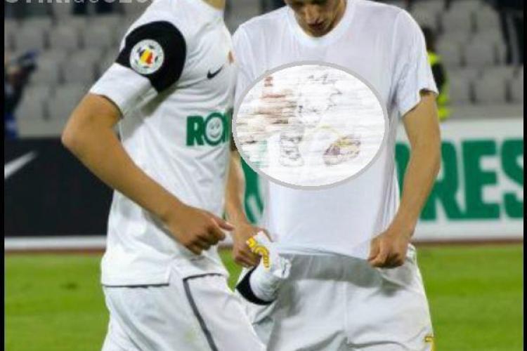 Vezi tricoul incendiar pe care il purta Gicu Grozav la meciul cu CFR Cluj FOTO