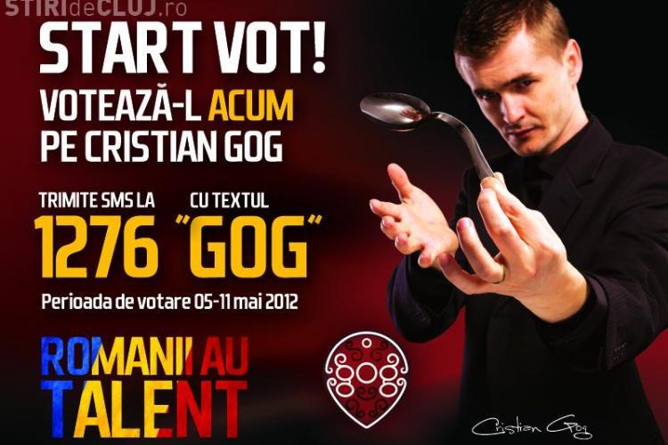 Votati CRISTIAN GOG pentru FINALA Romanii au talent! Vezi cum poti face acest lucru