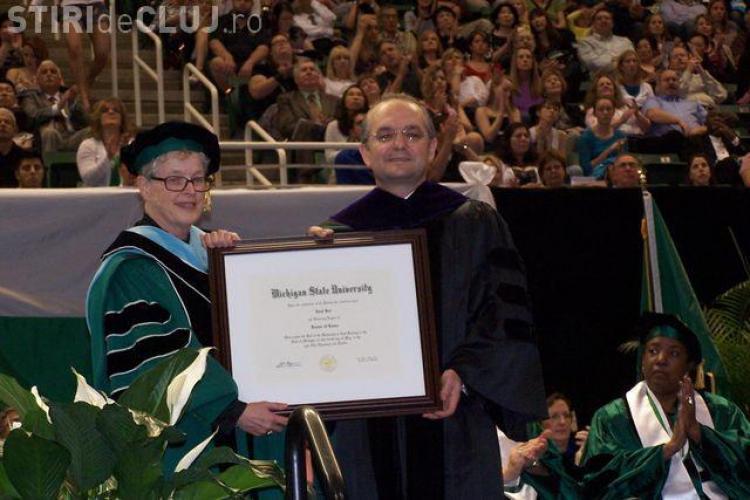 Emil Boc a primit titlul Onorific de Doctor in Drept la Universitatea Michigan State