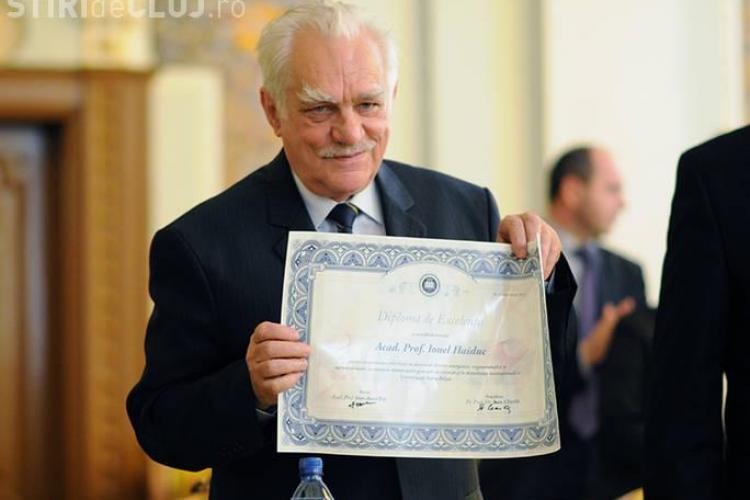 Ionel Haiduc a primit diploma de excelenta cu ocazia implinirii varstei de 75 de ani FOTO