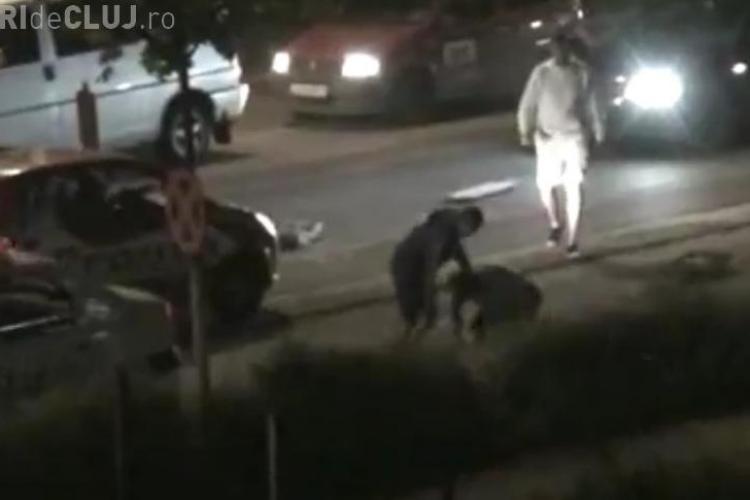 Politistii s-au batut cu un barbat beat, pe strada Plopilor din Cluj-Napoca VIDEO