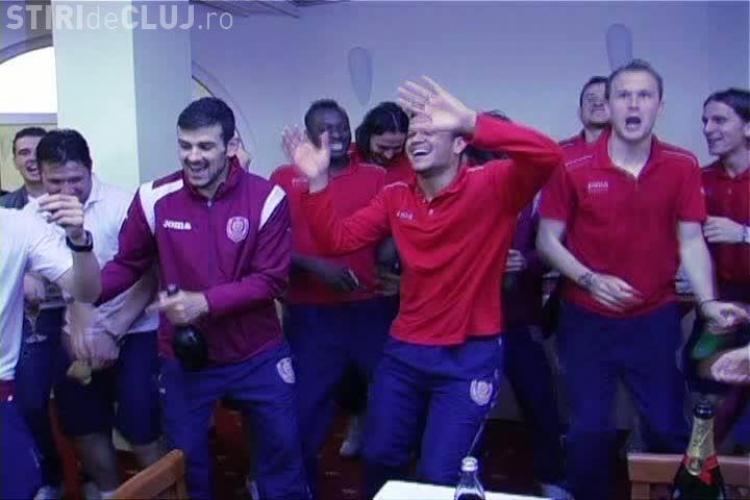 "Jucatorii de la CFR Cluj danseaza ""Tchu cha cha"" ca si Neymar la petrecerea de TITLU VIDEO"