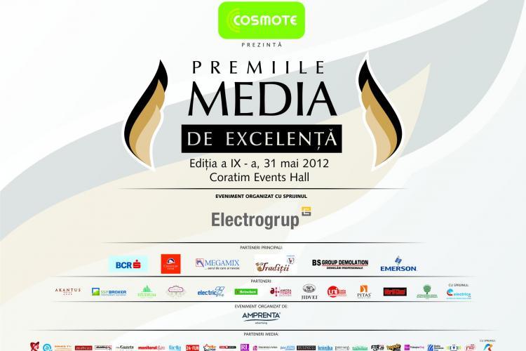 Valorile Clujului, premiate in cadrul Premiilor Media de Excelenta