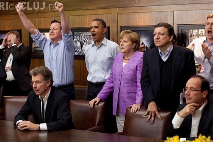 Liderii lumii s-au uitat impreuna la finala CHAMPIONS LEAGUE 2012! Cu cine tine Obama?