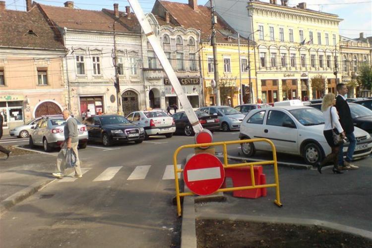 ZILELE CLUJULUI: Se inchide parcarea cu bariera din Piata Unirii
