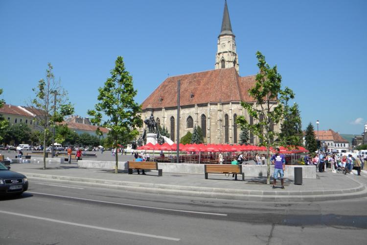 Zilele Clujului: Latura vestica a Pietei Unirii se inchide