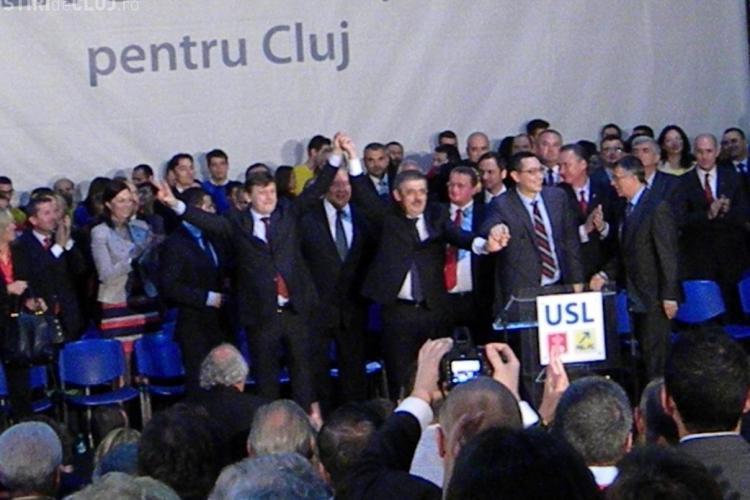 Uioreanu si Ponta au lansat candidatii USL pentru primaria Dej
