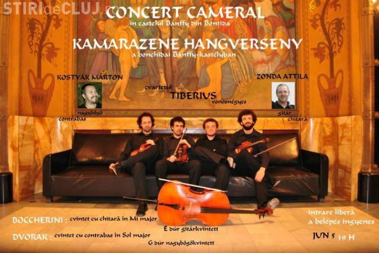 Concert la castelul Banffy de la Bontida al cvartetului Tiberius din Targu Mures