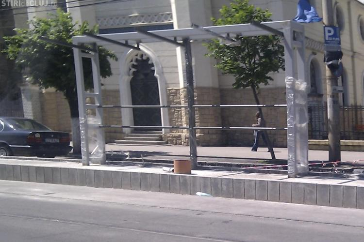Peroane noi pe linia de tramvai, intre cartierul Manastur si Piata Garii FOTO