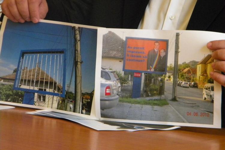 """Nicoara sustine ca afisele de campanie postate pe panourile din oras """"au fost devalizate"""""""
