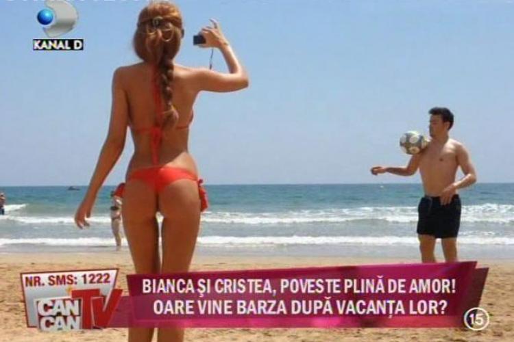 "Bianca Dragusanu si 'Printul"" Cristea au jucat fotbal pe plaja in Spania"