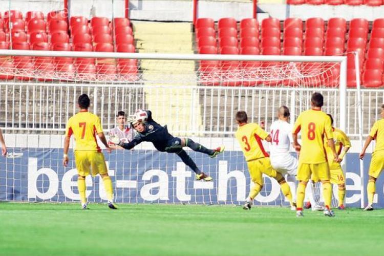 Jucatorii de la nationala U19 au mancat mici si cartofi prajiti inainte de esecul cu Serbia