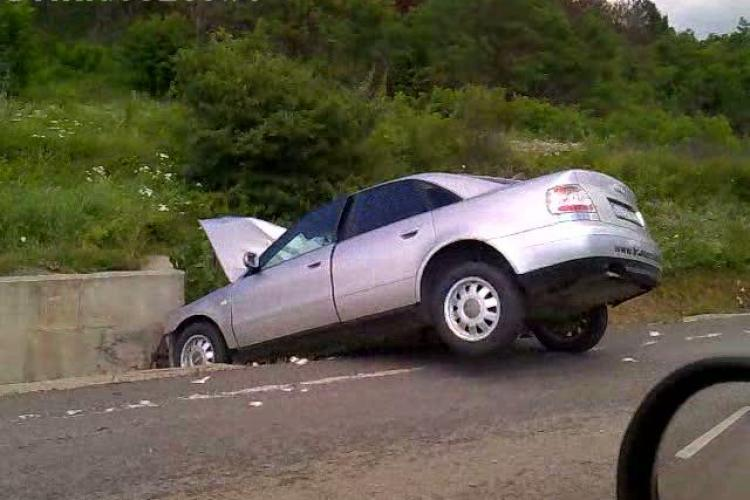 Accident pe dealul Topa! Traficul între Cluj și Zalău a fost blocat 30 de minute VIDEO
