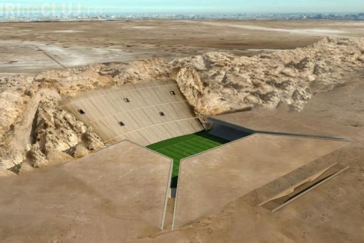 Stadion construit de arabi sub nisip! O FIȚĂ de 750 de milioane de euro