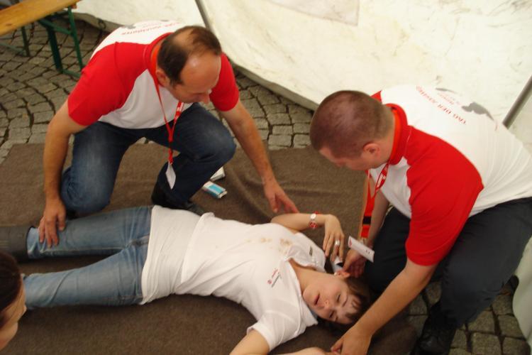 Un echipaj din cadrul SMURD Cluj a obţinut primul loc la un concurs de prim ajutor desfăşurat în Germania