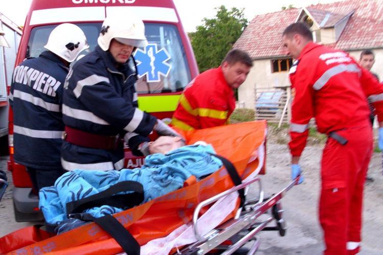 Explozie la Dej! Un tânăr a vrut să își pună capăt zilelor împreună cu tatăl lui, paralizat VIDEO