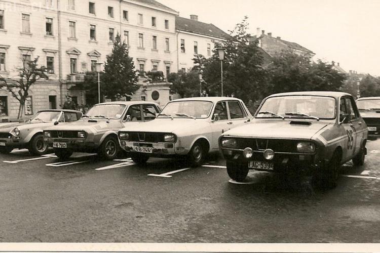 Proba de raliul prin centrul Clujului, dupa modelul celor din anii '70 - '80! VEZI poze de epoca FOTO