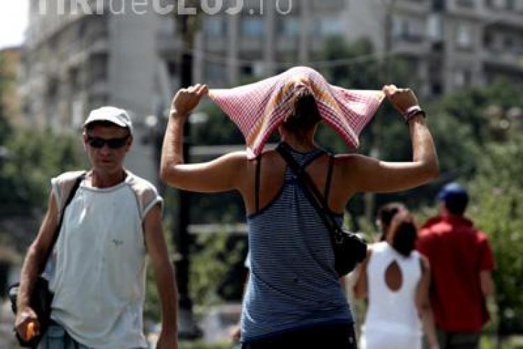 COD GALBEN de canicula in perioada 12 - 13 iunie si la Cluj. Temperaturile vor ajunge la 35-36 de grade Celsius