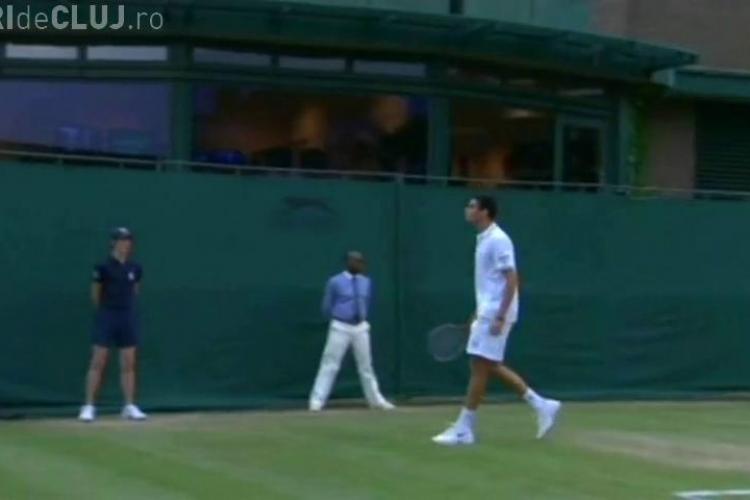 VIDEO SOCANT: Hanescu a scuipat publicul la Wimbledon si a abandonat