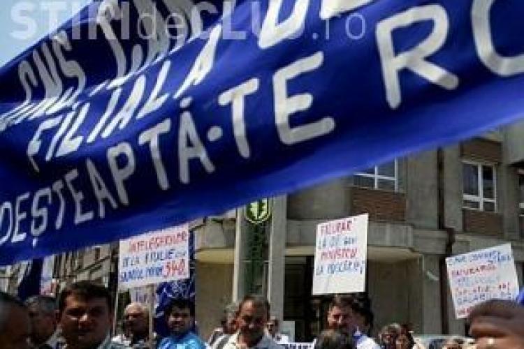 10.000 de sindicalisti vor ocupa miercuri cu forta Piata Lucian Blaga din Cluj-Napoca. Mitingul nu este autorizat