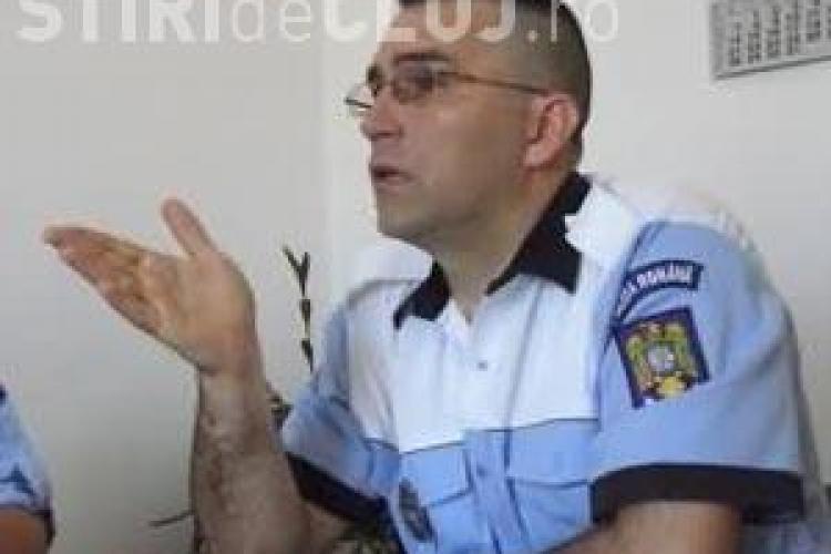 Soferul unui microbuz din Turda cercetat pentru ca l-a batut pe seful Politiei Rutiere Turda