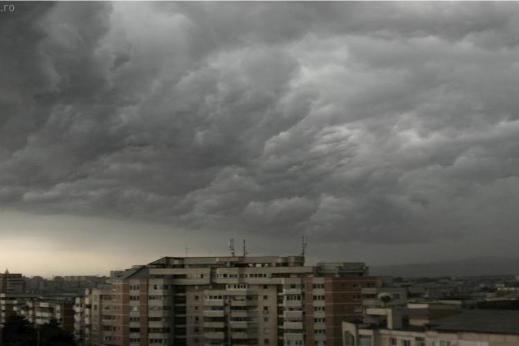 Avertizare de vreme severa si la Turda intre 15.40 - 17.10