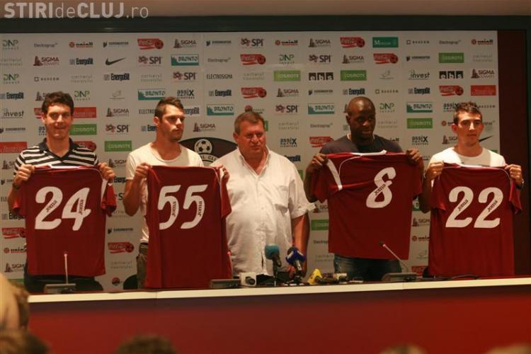 Ioan Hora, Dominique Kivuvu, Nuno Diogo si Ionut Rada au fost prezentati oficial la CFR Cluj