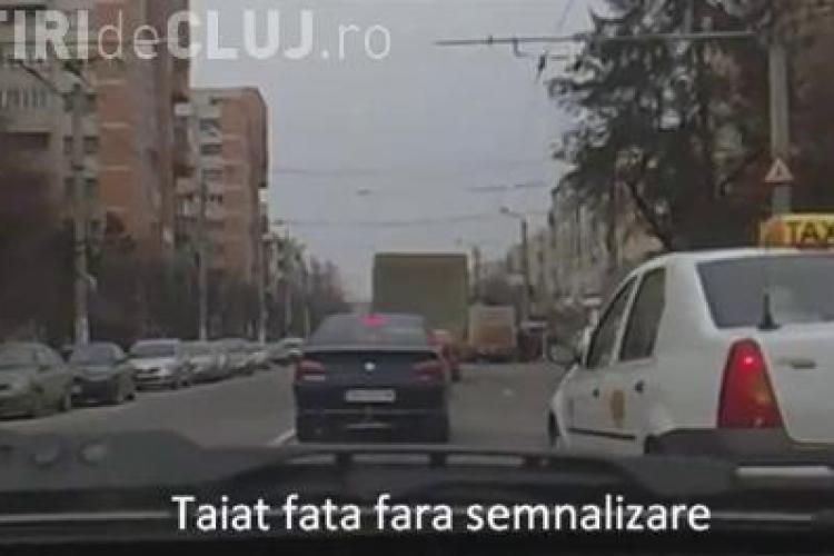 Taximetristii conduc ca in Vestul Salbatic pe strazile din Cluj-Napoca. Imaginile sunt graitoare - VIDEO