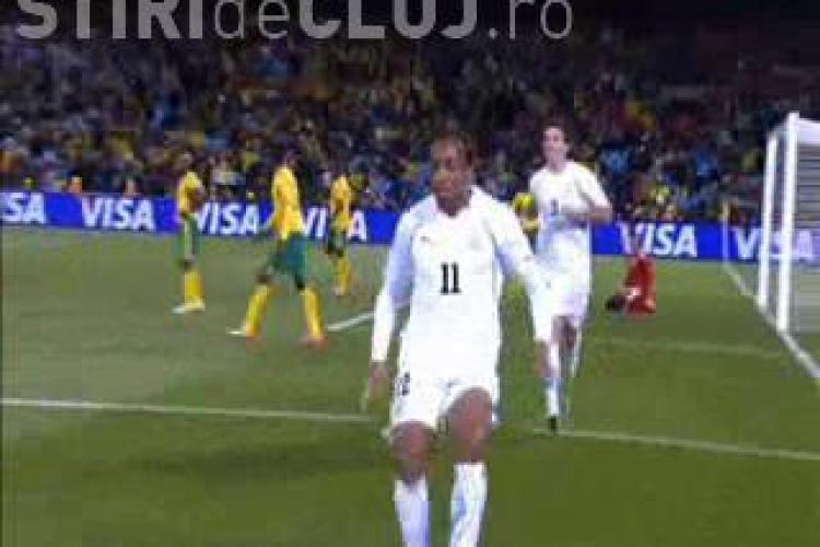 VIDEO - Alvaro Pereira, fostul jucator al CFR Cluj, a inscris impotriva Africii de Sud. Uruguay -ul a castigat cu 3 - 0 - VEZI GOLUL