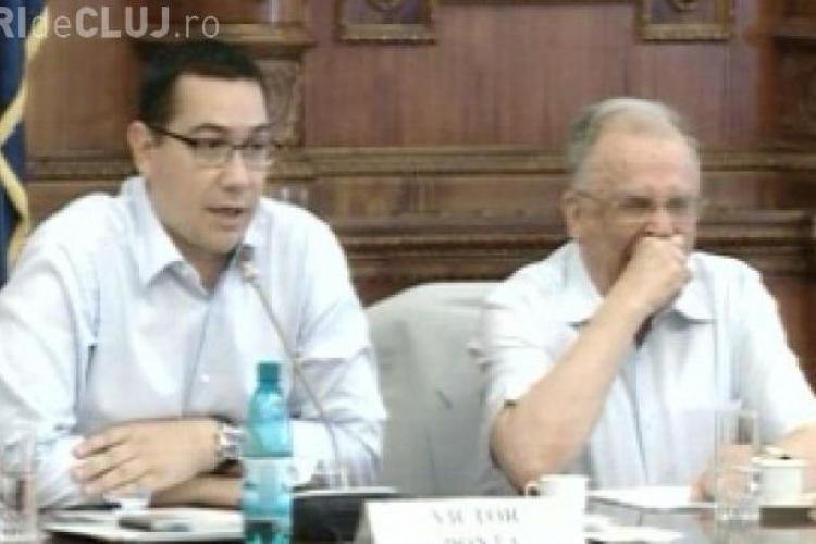 Ion Iliescu a ațipit în timpul discursului lui Ponta