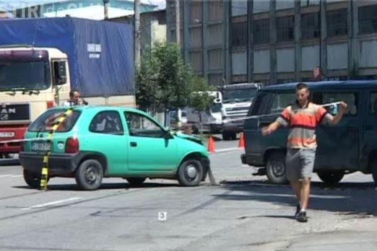 Accident la intrare in Dej! O persoană a fost rănită pe strada 1 Mai din Dej VIDEO