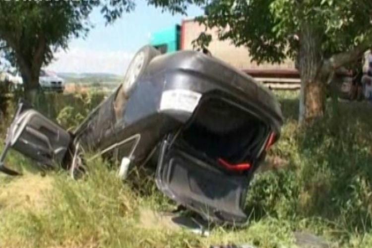 Accident la Uriu! Cinci persoane au fost rănite VIDEO