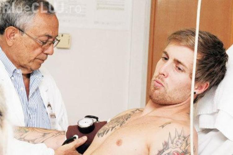 Adam Vass, jucătorul CFR Cluj, are tatuată stema Ungariei pe gât