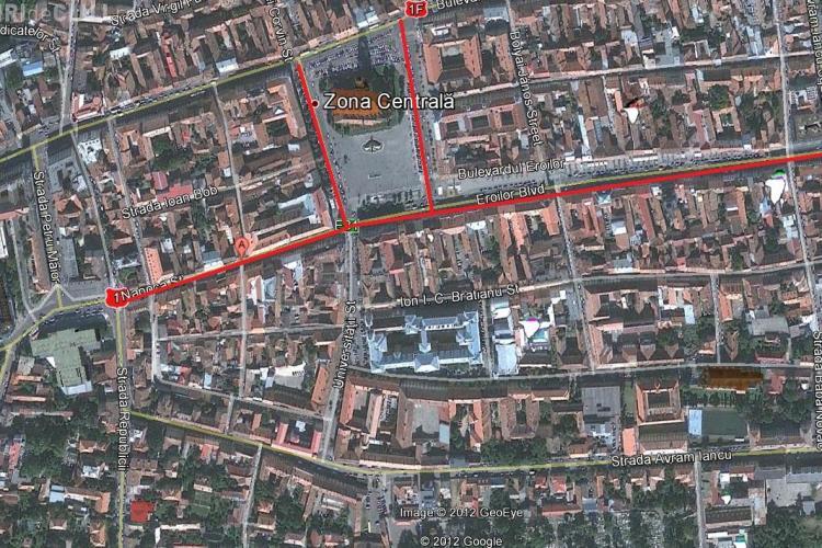 Vezi HARTA Clujului Pietonal! Din 14 iulie spunem ADIO mașinilor pe durata weekend -urilor FOTO