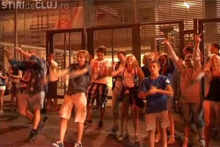 Un grup de fani olandezi ai CFR Cluj au făcut atmosferă incredibilă după meciul cu Gaz Metan VIDEO