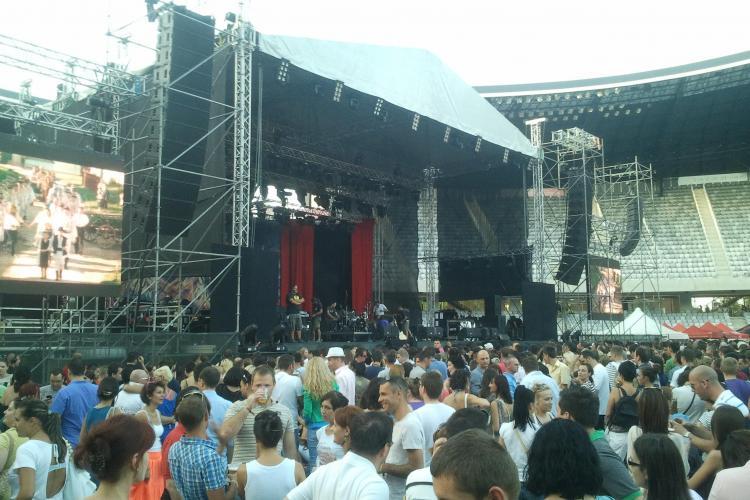 Cum arată Cluj Arena înainte de concertul Roxette FOTO