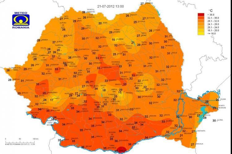 Care sunt cele mai răcoroase locuri din Cluj VEZI HARTA