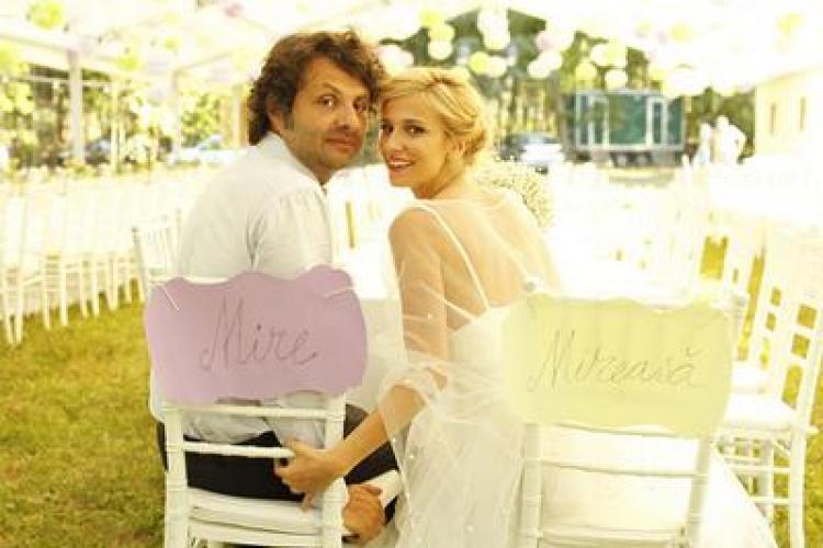 Dana Rogoz s-a căsătorit cu Radu Dragomir FOTO