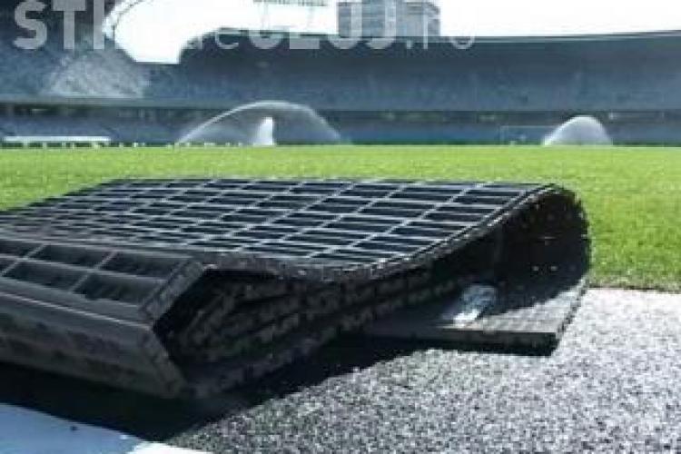 Gazonul de pe Cluj Arena protejat cu grass cover la concertul Roxette