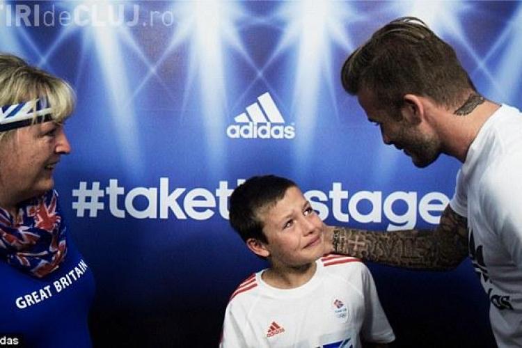 De ce l-a făcut Beckham pe un copil să plângă FOTO