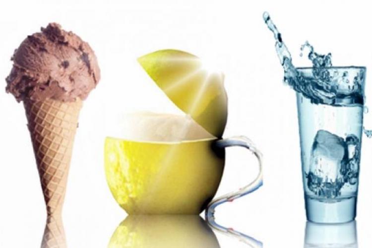Apa rece, îngheţata şi berea cu lămâie - nocive pe caniculă