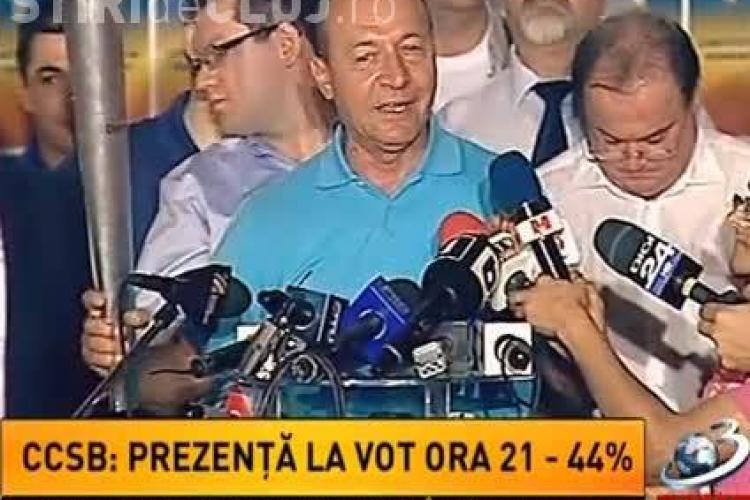Prima declarație a lui Băsescu: Vă mulțumesc încă o dată români că nu ați validat lovitura de stat VIDEO